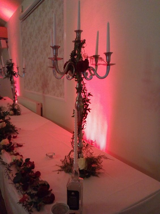 Candelabra and Flowers