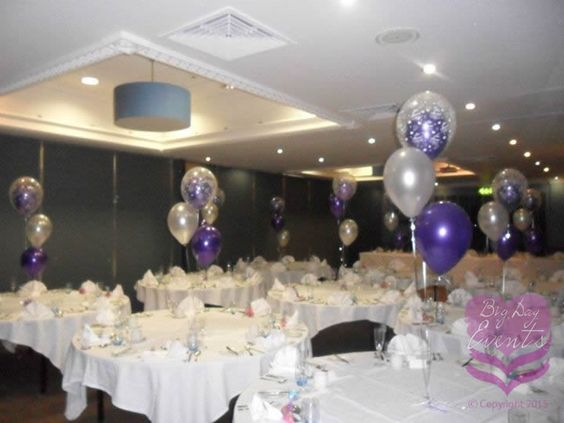 Latex Table Balloons – Trios and Weights