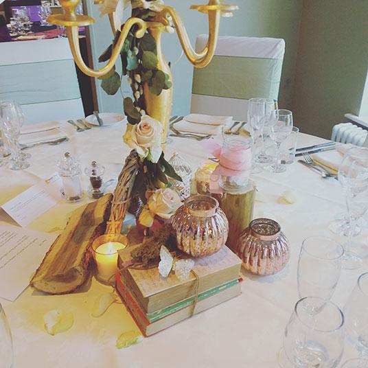 rusticware wedding table decor
